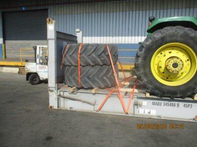 Huge John Deere Tractor with Spare Tires