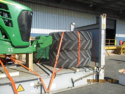 Huge John Deere Tractor and Spare Tires Ready to be Shipped