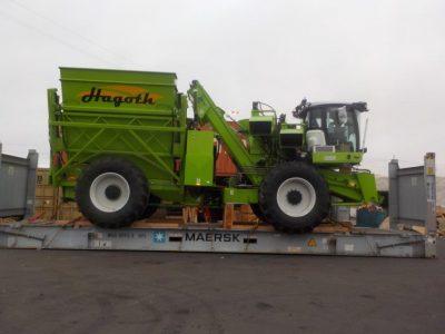 Large Green Corn Harvester